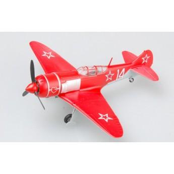 Модель самолета Ла-7 красный №14