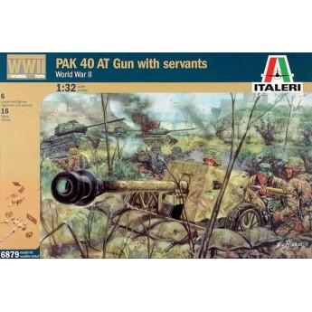 Пушка  WWII GERMAN PAK40 AT GUN with crew (1:32)
