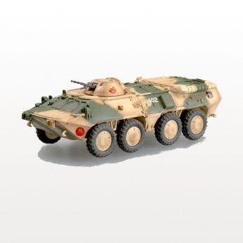 Собранная модель БТР-80 в масштабе 1 к 72