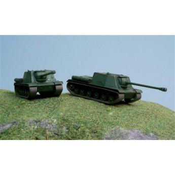 ITALERI 7503 Сборная модель САУ ИСУ-122 (2 быстросборные модели) (1:72)