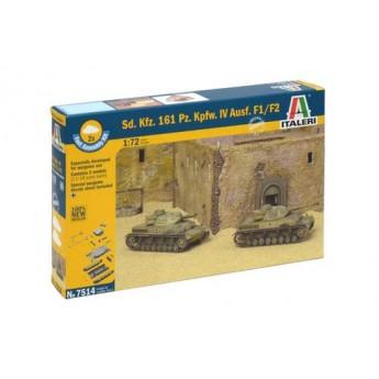 ITALERI 7514 Сборная модель танка Sd.Kfz.161 Pz.Kpfw.IV F1-F2 (2 быстросборные модели) (1:72)