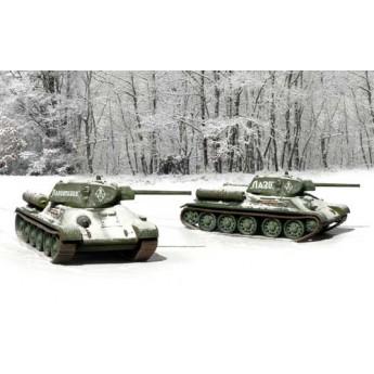 ITALERI 7523 Сборная модель танка T-34/76 мод 1942 г (2 быстросборные модели) (1:72)