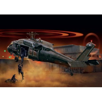 "ITALERI 1328 Сборная модель вертолета UH-60/MH-60 BLACK HAWK ""NIGHT RAID"" (1:72)"