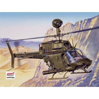 Модель вертолета OH-58D KIOWA (1:48)