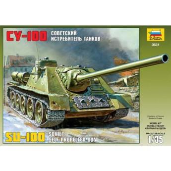 Модель САУ СУ-100 (1:35)