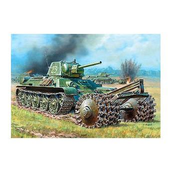 Модель танка Т-34/76 с минным тралом (1:35)
