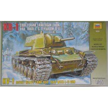 Модель танка КВ-1 мод. 1940г. (1:35)