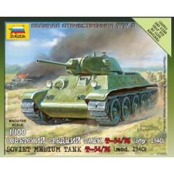 Модель танка Т-34/76 (обр 1940г) (1/100)