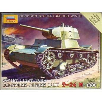 Модель советского танка Т-26 (1:100)