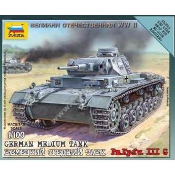 Модель танка Pz.Kp.fw.III G (1/100)
