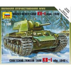 Модель тяжелого танка КВ-1 обр. 1940 года (1:100)