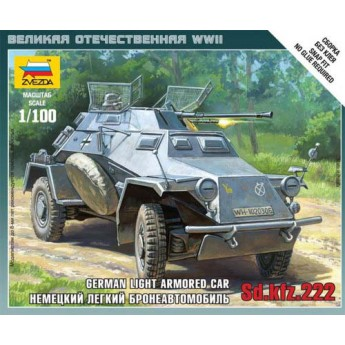Модель бронеавтомобиля Sd.Kfz.222 (1:100)