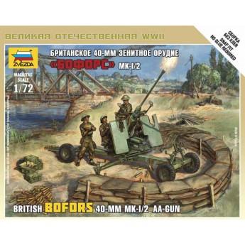 """Модель пушки 40 mm. """"Bofors"""" (1:72)"""