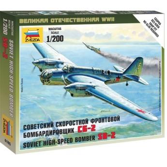 Модель самолёта СБ-2 (1:200)