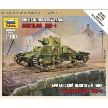 Модель танка Матильда Мк-1 (1:100)