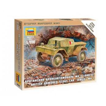 """Модель бронеавтомобиля """"Даймлер"""" МК-1 (1:72)"""