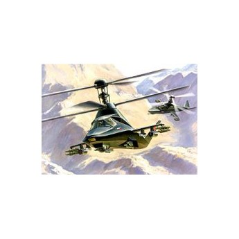 """Модель вертолета Ка-58 """"Черный призрак"""" (1:72)"""