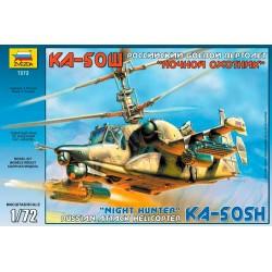 """Звезда 7272 Модель вертолета Ка-50Ш """"Ночной охотник"""" (1:72)"""