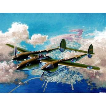 "Модель самолета P-38F ""Лайтнинг"" (1:48)"