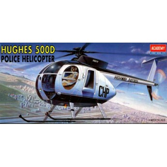 Academy 12249 Сборная модель вертолета HUGHES 500D Police Helicopter (1:48)