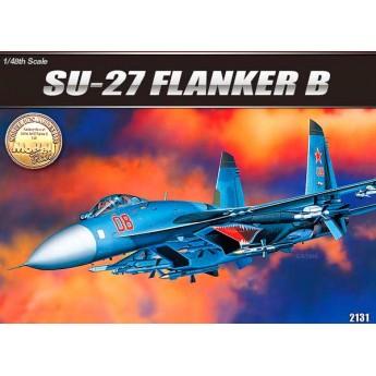 Academy 12270 Сборная модель самолета SU-27 FLANKER B (1:48)