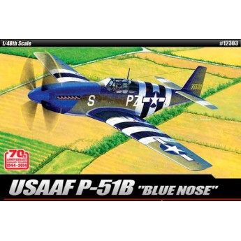 "Модель самолета USAAF P-51B ""Anniv. 70 Normandy invasion 1944"" (1:48)"