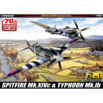 "Модель самолета SPITFIRE Mk.14C & TYPHOON Mk.IB ""Annv.70 Normandy Invasion 1944"" (1:72)"