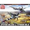 "Academy 12512 Сборная модель самолета SPITFIRE Mk.14C & TYPHOON Mk.IB ""Annv.70 Normandy Invasion 1944"" (1:72)"