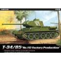 """Academy 13290 Сборная модель танка T-34/85""""№112 Factory Production"""" (1:35)"""