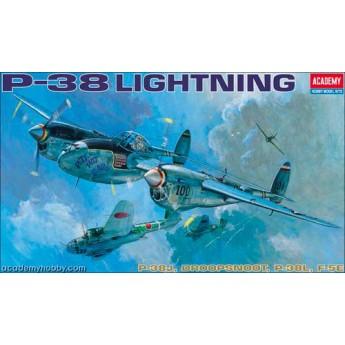 Academy 12282 Сборная модель самолета P-38E/J/L (1:48)