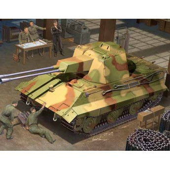Модель зенитного танка Е-50