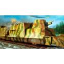 Trumpeter 01511 Сборная модель артиллерийского и зенитного броневагона (1:35)