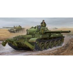 Модель танка Т-62 мод. 1975 с минным тралом КМТ-6 (1:35)
