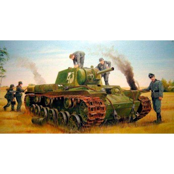 Модель танка КВ-8 (1:35)