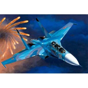 Модель самолета Су-27УБ (1:72)