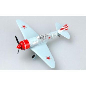 Модель самолета Ла-7 белый №93 Долгушин