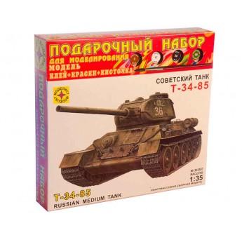 Модель танка Т-34-85. Подарочный набор