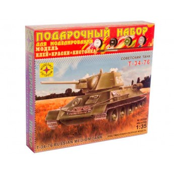 Модель танка Т-34-76 образца 1942 года. Подарочный набор