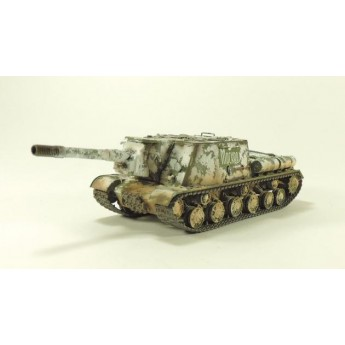 "BroneMir bm041 Готовая модель САУ ИСУ-152 ""Зверобой"" зима 1945 г (1:72)"