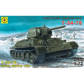 Моделист 307229 Сборная модель танка Т-34-76 (1:72)