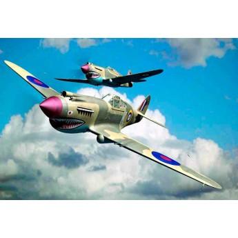 Модель самолета Curtiss P-40B Warhawk (1:48)