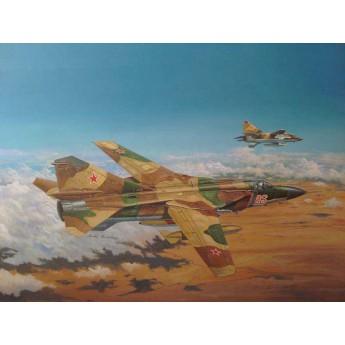 Модель самолета Советский МиГ-23МЛ Flogger-C (1:48)
