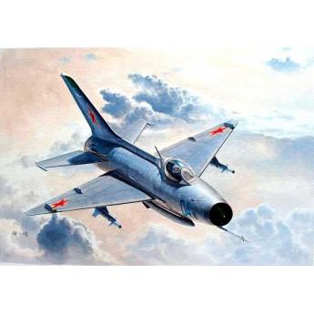 Модель самолета МиГ-21Ф-13/J-7 (1:48)