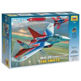 """Модель самолета МиГ-29 авиагруппа """"Стрижи"""" (1:72)"""