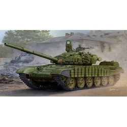 Модель танка Советский T-72Б/Б1 с реактивной бронёй контакт-1 (1:35)