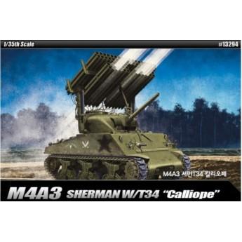 "Модель танка M4A3 Sherman w/ T34 ""Calliope"" (1:35)"