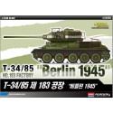 Academy 13295 Сборная модель танка T-34/85 завода №183 Берлин 1945 (1:35)