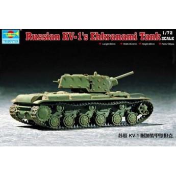 Модель танка КВ-1 с экранами (1:72)