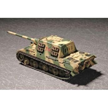 """Модель танка """"Ягдтигр"""" (Порше) с циммеритом (1:72)"""