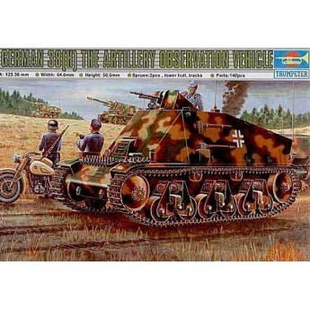Trumpeter 00355 Сборная модель танка German 38(H) Conductor voiture (1:35)